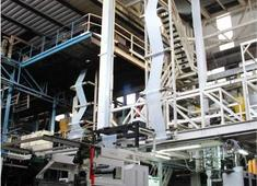Sale and relocation of used Macchi 3 layer blown film extrusion line