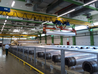 Reel storage for used Bruckner BOPP line
