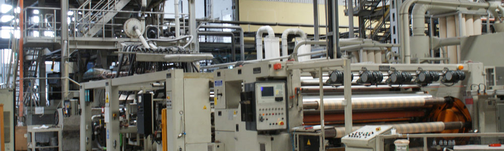 Used Reifenhauser cast film coextrusion line for CPP